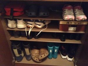 Shoe cupboard, kids' section